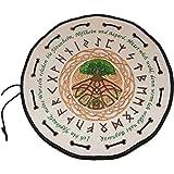Runenbeutel Yggdrasil aus echtem Leder mit Horn - Runen