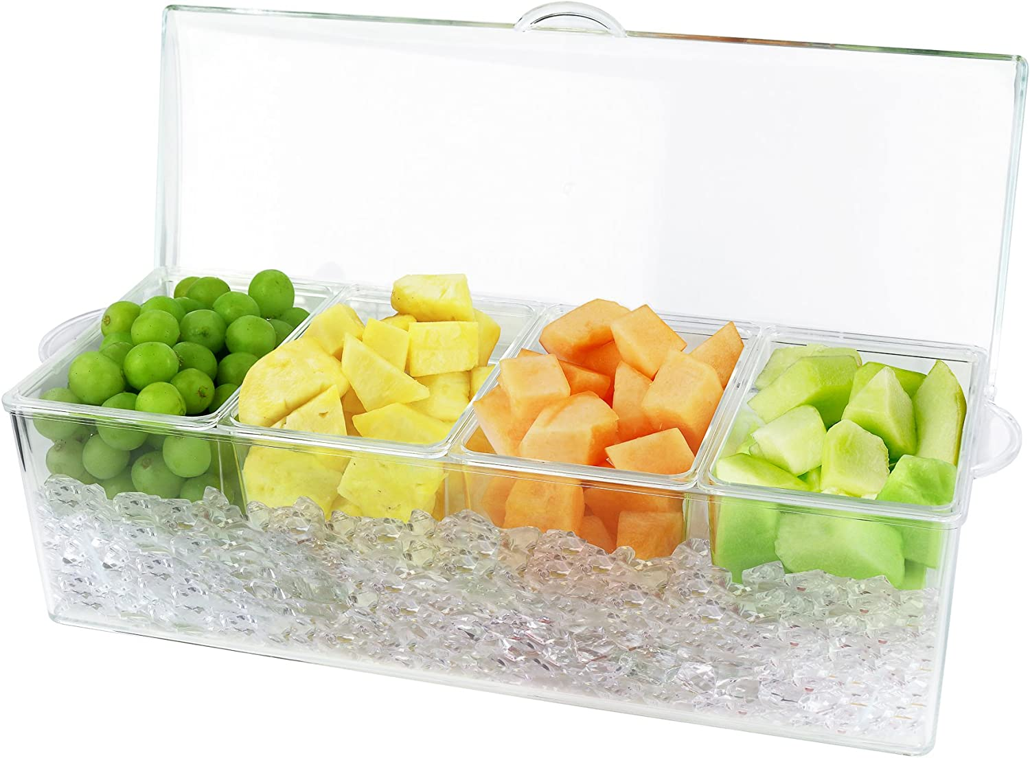Estilo 4 Section Condiment on Ice Clear Pack 2-