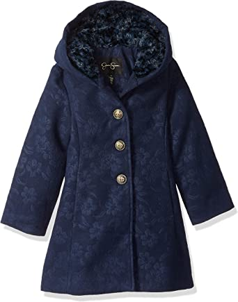 BFUSTYLE Girls Dress Coat Double-Breasted Long Winter Coat Kids Outerwear Size 6-12