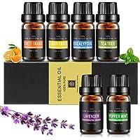 Etherische oliën set, Aiemok 6 x 10 ml etherische oliën cadeauset 100% pure therapeutische kwaliteit geurolie…