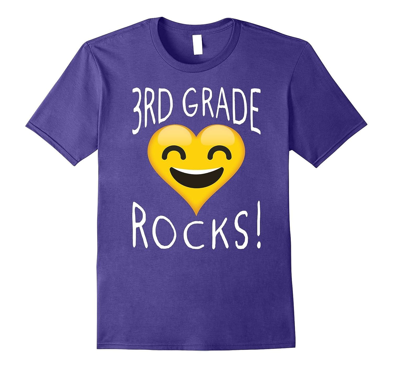 3rd Grade T-shirt - Heart Emoji 3rd Grade Rocks Shirt-ANZ