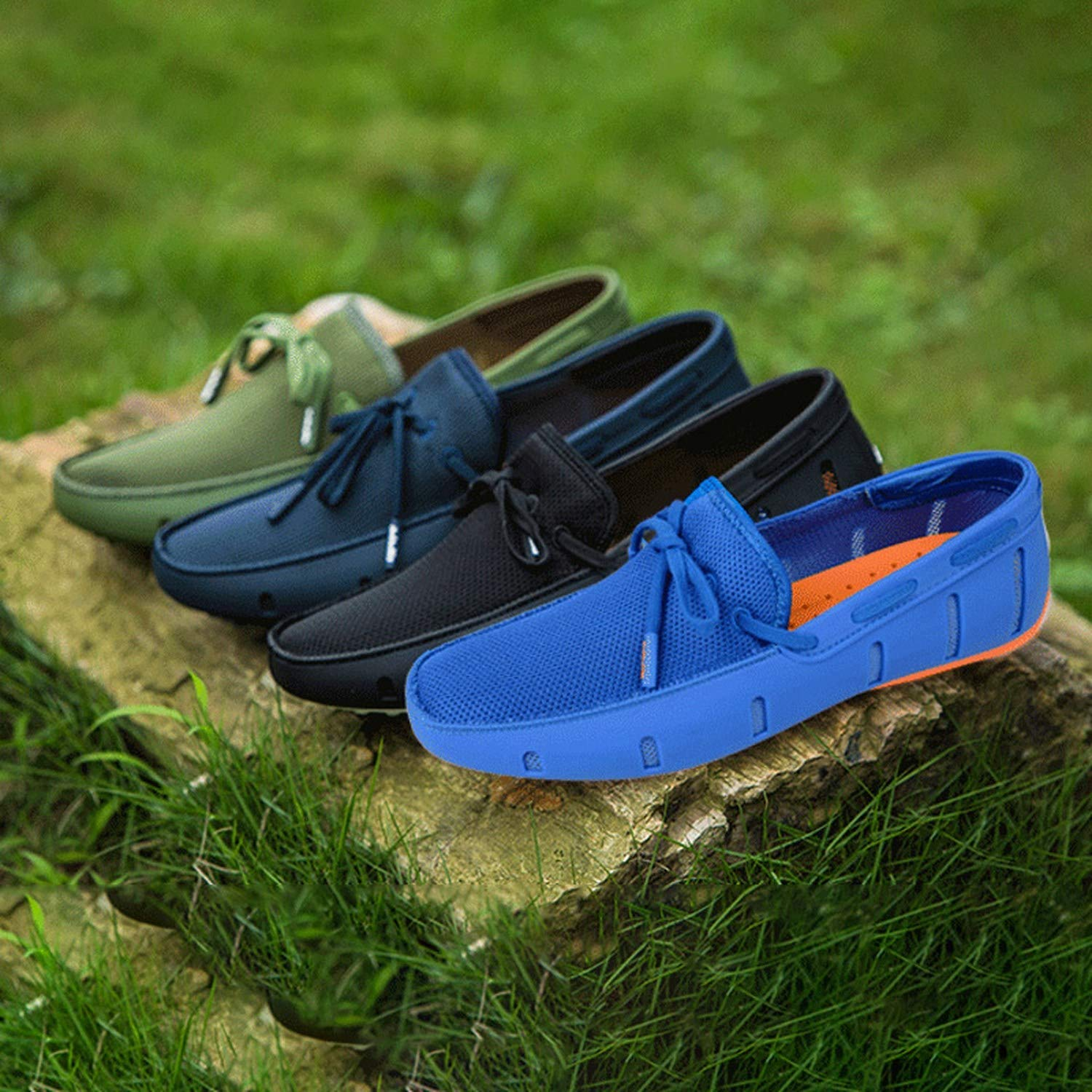 crazy-shop Breathable Slip-on Summer Shoes Men Casual Comfortable Upstream Walking Water Quick Drying Sneaker Shoes,Blue 4,39