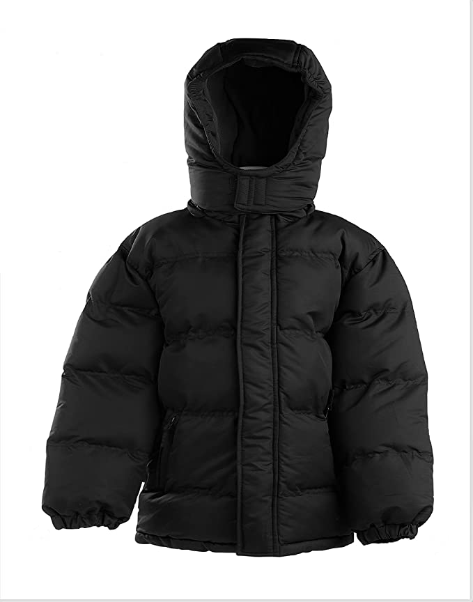 7e3a2ac33d5b Amazon.com  The Polar Club Heavy Puffer Jacket Bubble Winter Coat ...