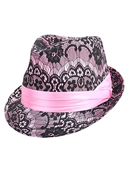 d21babf0ab5 Luxury Divas Lace Top Women s Fedora Hat at Amazon Women s Clothing ...