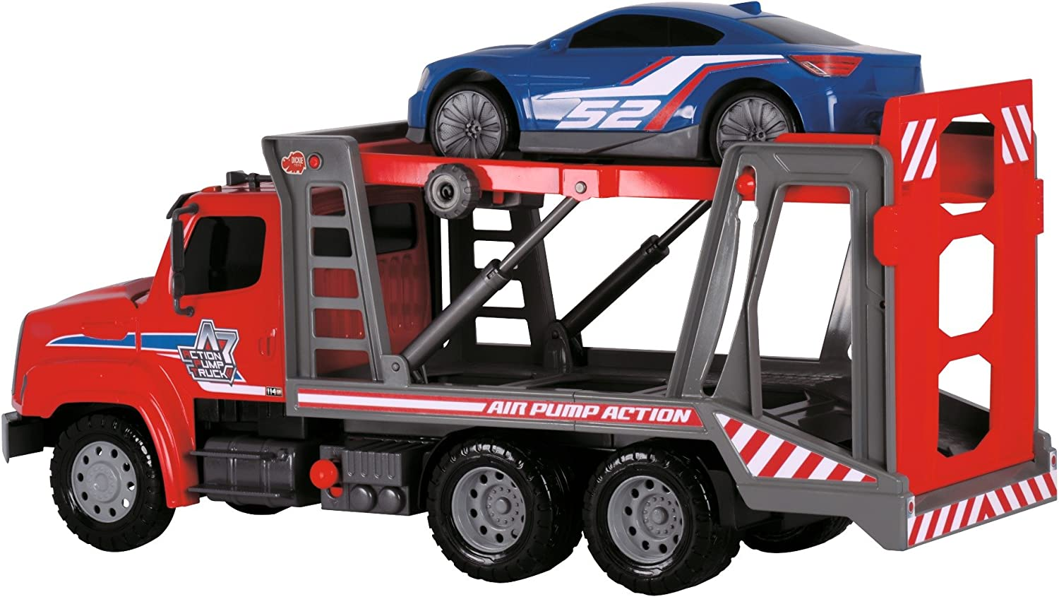 Dickie Toys 22 Air Pump Action Car Transporter Truck Vehicle