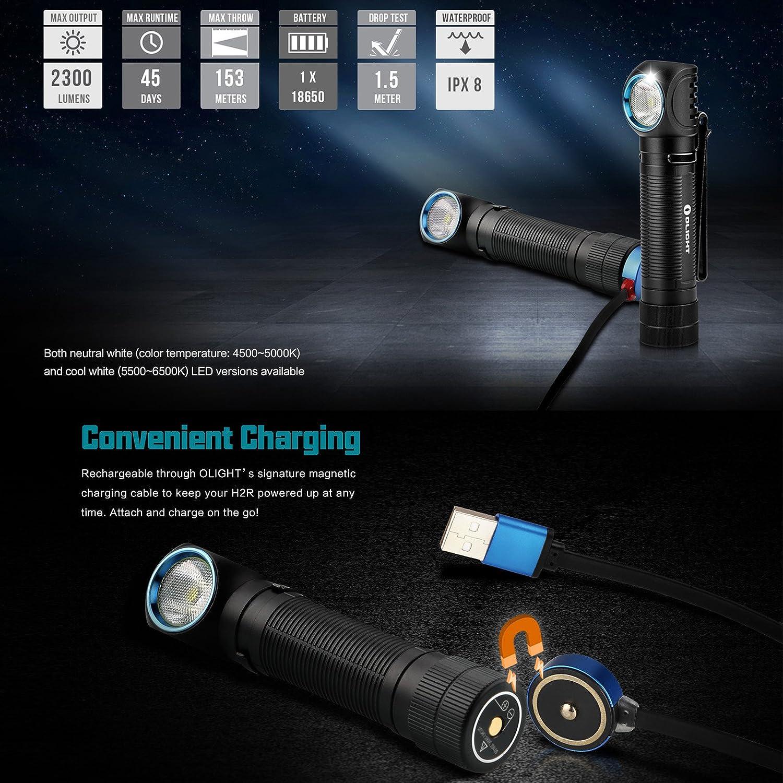 5 Years Warranty!! 600LM Cool White Multipurpose Headlamp Olight H1 Nova