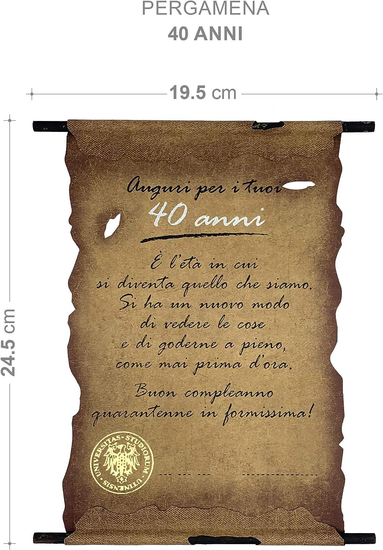 Biglietto Pergamena Compleanno 40 Anni Amazon It Cancelleria E Prodotti Per Ufficio