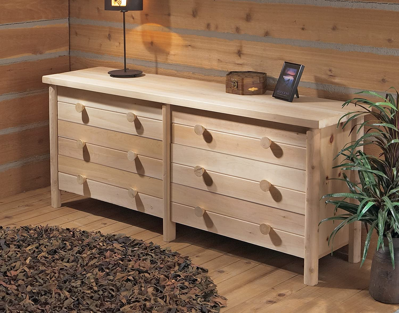 Amazon.com: Rustic Natural Cedar Log 6 Cajón Dresser: Jardín ...