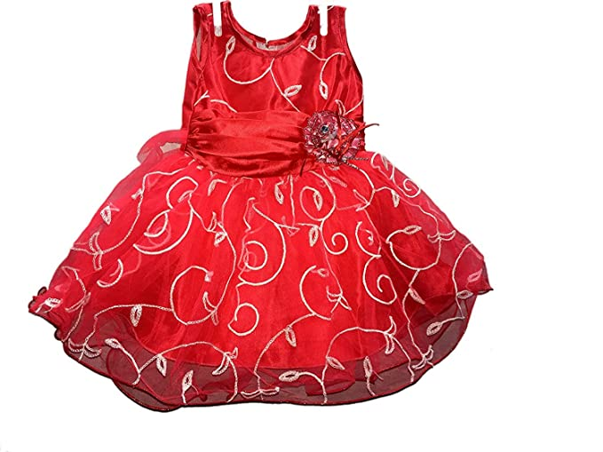 d7aa5e5316f9 Pack of Two Classic Pink   Red Bhoomi Cute Baby Net Frocks for Baby ...
