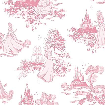 GRAHAM & BROWN DISNEY PRINCESS TOILE PINK CHILDRENS KIDS GIRLS WALLPAPER 70-233 by Graham & Brown - - Amazon.com