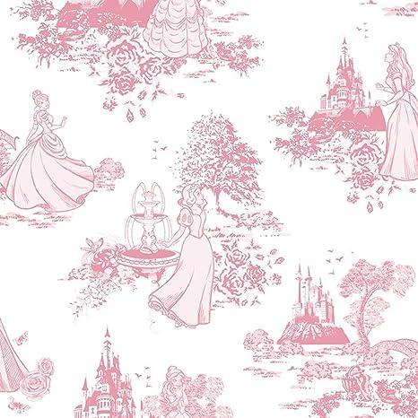 Graham Brown Disney Princess Toile Pink Childrens Kids Girls Wallpaper 70 233 By Graham Brown