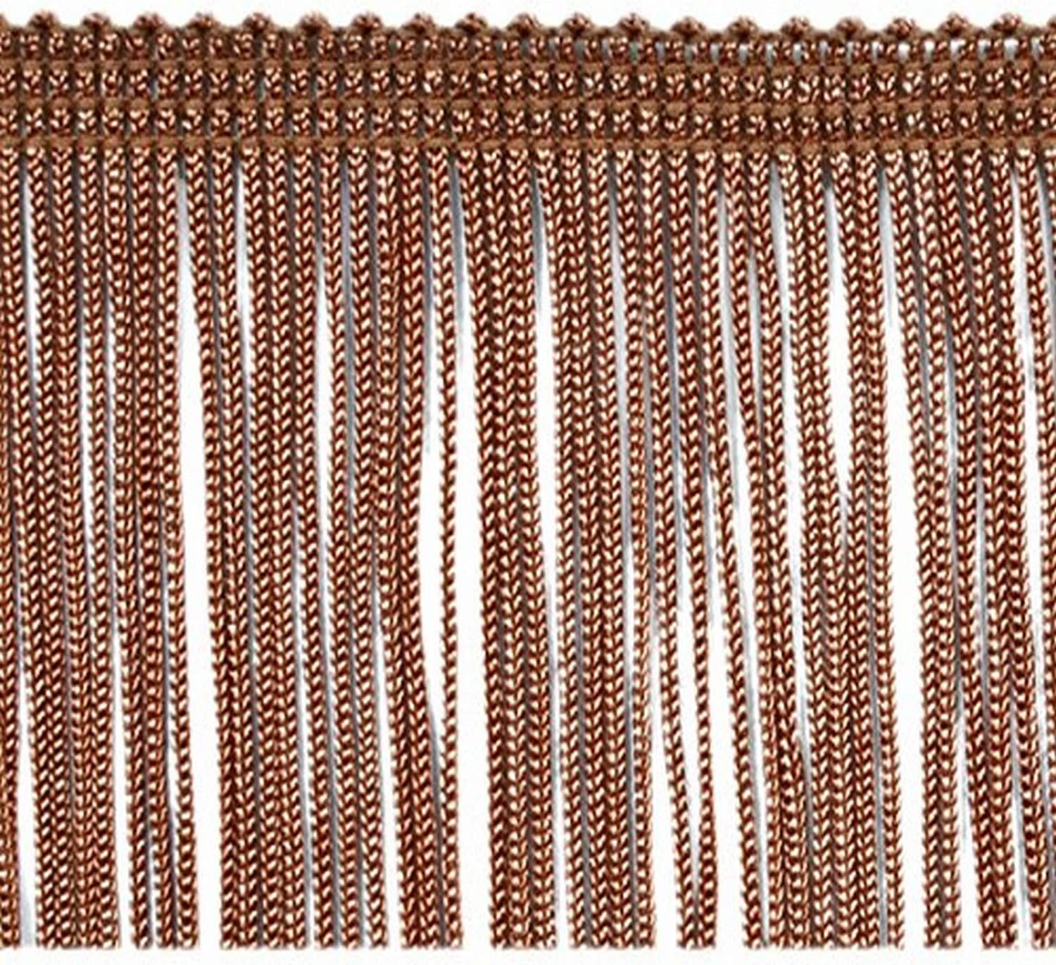 Expo International 5 Yards of 2 Chainette Fringe Trim Cocoa 5 yd x 2