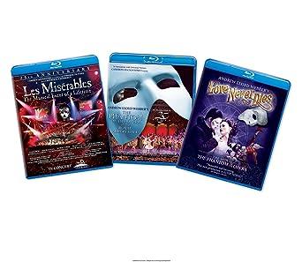 Musical 3 Pack Les Miserables/The Phantom of the Opera/Andrew Lloyd Webbers Love Never Dies Blu-ray: Amazon.es: Cine y Series TV