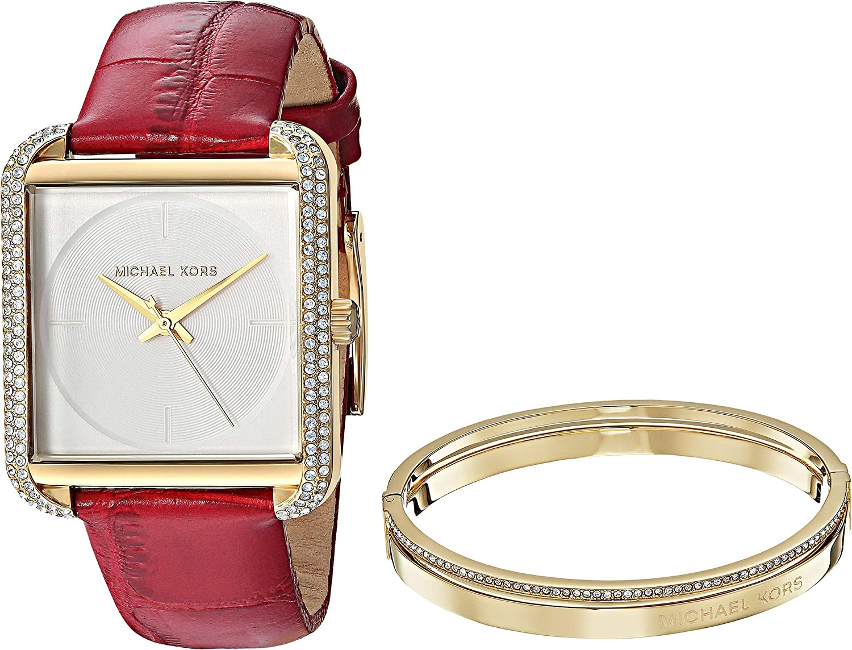 853cd3cf235 Amazon.com  Michael Kors Women s MK3829 - Lake Gift Set Gold Burgundy One  Size  Watches
