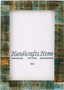 Handicrafts Home 4x6 Verdigris Bone Picture Frames Chic Photo Frame Handmade Vintage
