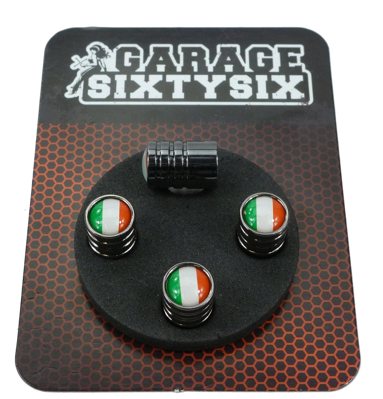 4 Ventilkappen Italien in Schwarzchrom Modell Detroit