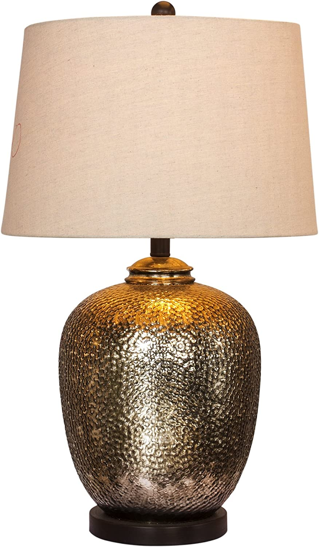Martin Richard W-5155 Table Lamp, 27.5, Brown Mercury Glass & Oil Rubbed Bronze