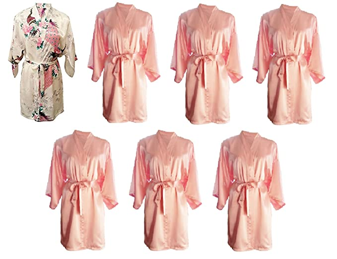 72f6dc6abd Party Pack Set of 7 Pretty Hen Party Getting Ready Robes