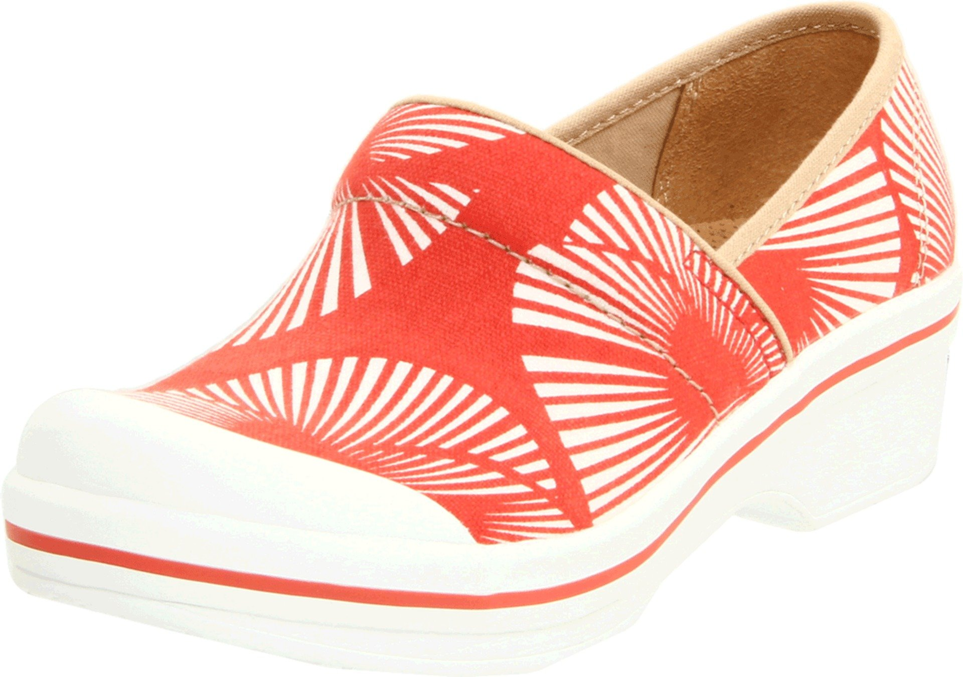 Dansko Women's Volley Clog,Red Palm Frond,36 EU/5.5-6 M US