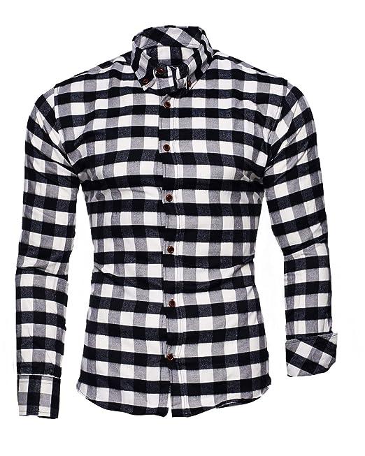 059203dd Kayhan Hombre Camisa Manga Larga Slim Fit S M L XL 2XL Modello - Chicago:  Amazon.es: Ropa y accesorios