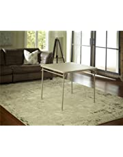 Cosco Dorel Industries Square Vinyl Top Folding Dining or Card Table, 34-Inch, Off White