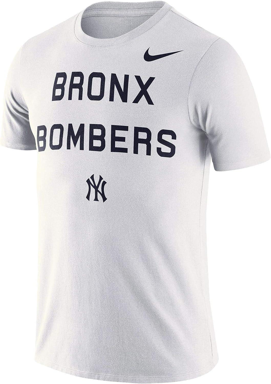 Nike Mens New York Yankees White MLB Bronx Bomber Local Phrase T-Shirt