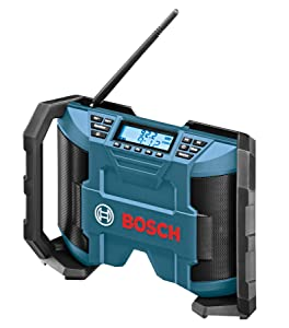 Bosch PB120 12-Volt Max Lithium-Ion Compact AM/FM Radio with MP3 Player Connection Bay