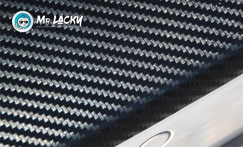 II BJ 09//2008-2019 in 3D Carbon schwarz 160/µm MisterLacky Lackschutzfolie mit Rakel als Ladekantenschutz Folie passend f/ür Peugeot Partner Tepee