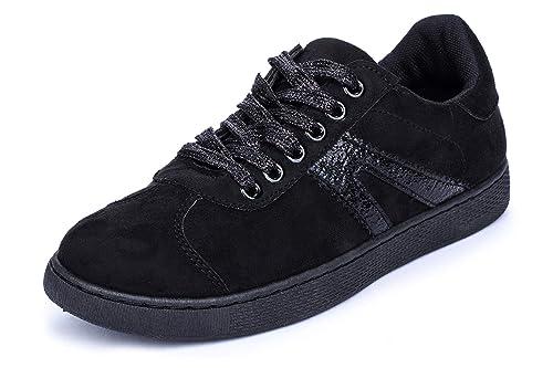 La Push Randia Zapatillas Deportivas de Mujer Negras: Amazon.es: Zapatos y complementos