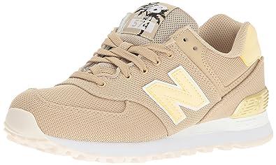 New Balance Damen Wl574 Sneakers, Türkis (Türkis/Gelb), 35 EU