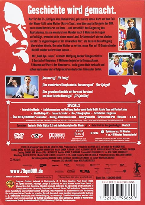 Good Bye Lenin Dvd Amazon De Daniel Bruhl Katrin Sass Chulpan Khamatova Alexander Beyer Yann Tiersen Wolfgang Becker Daniel Bruhl Katrin Sass Dvd Blu Ray