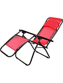 Zero Gravity Chair With Headrest Folding Reclining Chair For Garden, Lawn,  Camping, Pool