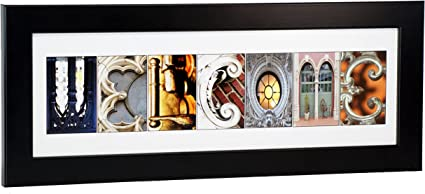 Creative Letter Art Framed Welcome Created w// Architectural Alphabet Photos