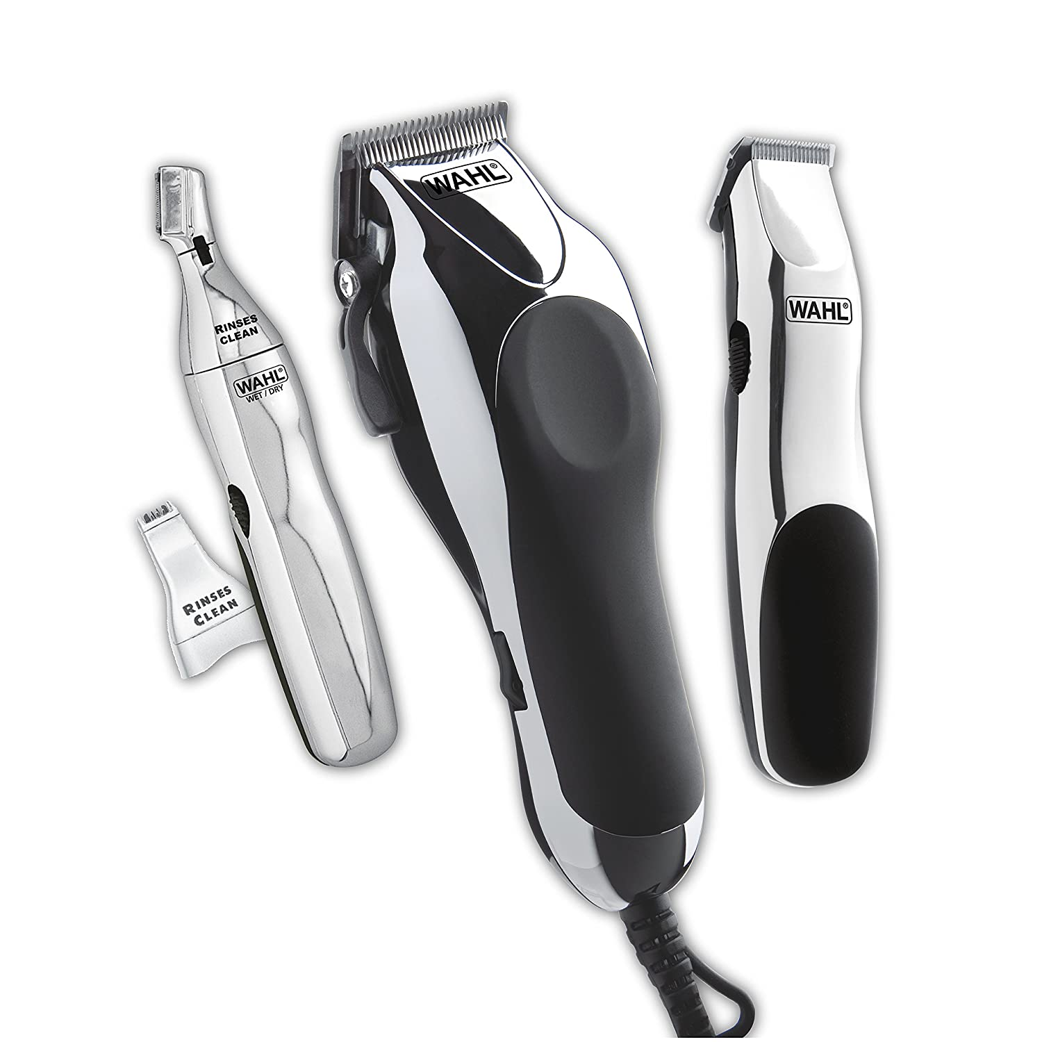 Wahl Clipper Home Barber Kit with Electric Clipper, Touch Up Trimmer Personal Groomer 30 Piece Kit for Professional Style Haircutting at Home Model 79524-3001