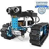 Makeblock mBot Starter, Kit de Robot programable 2 en 1, Carro Robot y Carro Robot de Tres Ruedas Dos Formas, Versión Bluetooth para familias e individuos, Azul