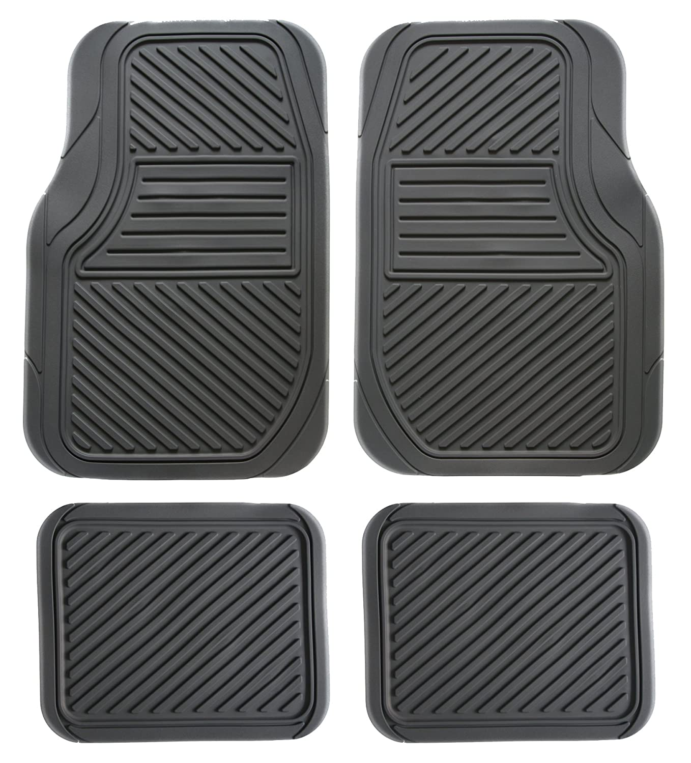Black Koolatron Pants Saver Better All Season 4 Piece All Weather Car Mat Set