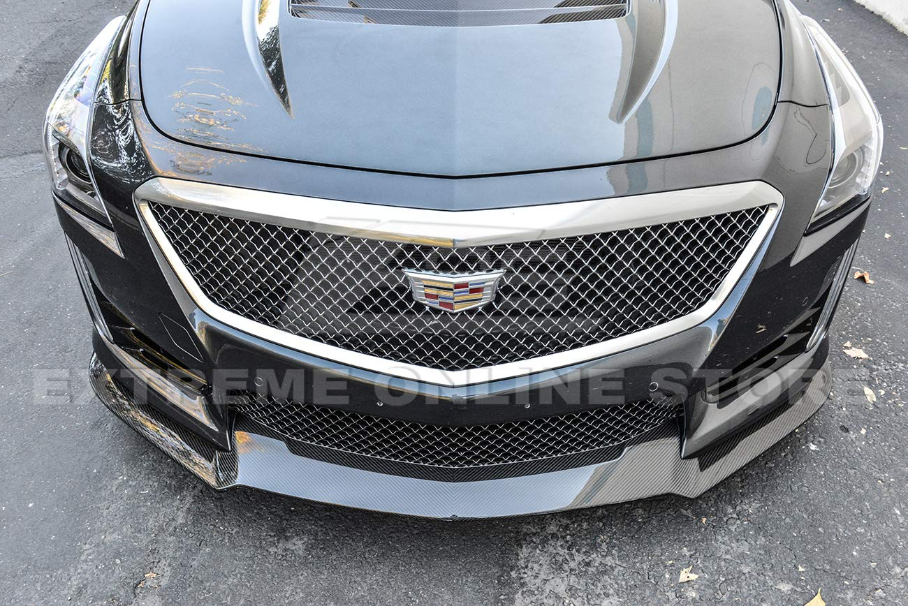 Carbon Package Style Carbon Fiber Front Bumper Lower Lip Splitter Extreme Online Store for 2009-2015 Cadillac CTS-V Models