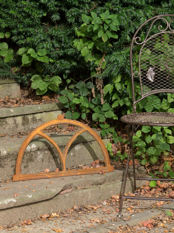 Nostalgie Stallfenster Bogen 33x59cm Fenster Eisen Scheunenfenster antik Stil