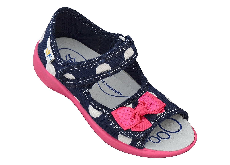 3f freedom for feet Mädchen Offene Sandalen Prinzessin Schuhe Kinder Outdoor Lauflernschuhe mit Klettverschluss Gr. 24-30