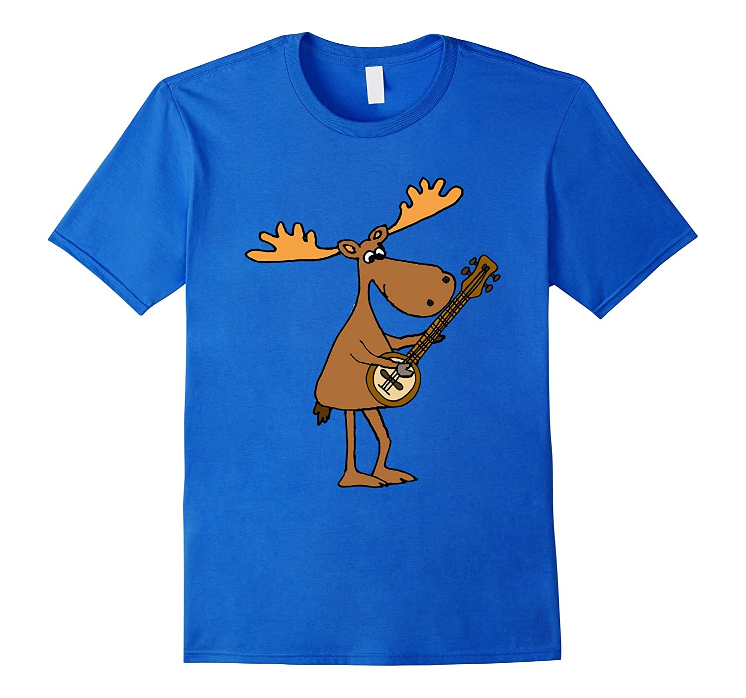 Smilemoretees Funny Moose Playing Banjo T-shirt-Teevkd