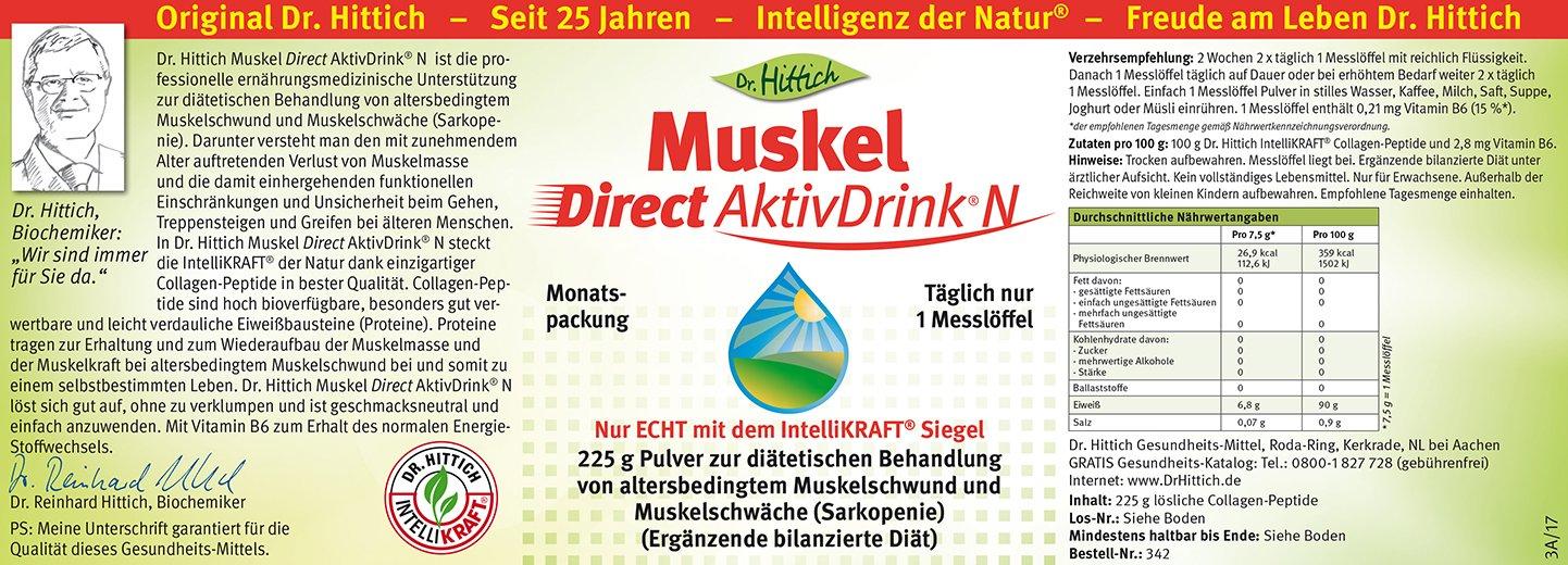 Muskel Direct AktivDrink® N - Collagen-Peptide für kraftvolle ...