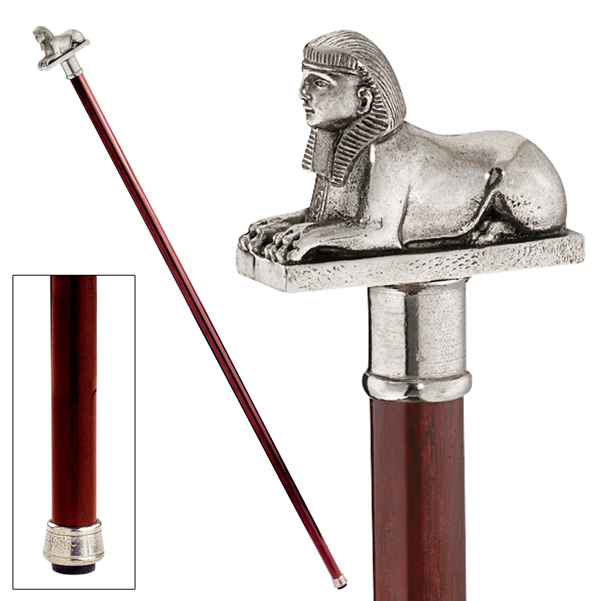 Design Toscano Egyptian Sphinx Pewter Walking Stick by Design Toscano (Image #2)