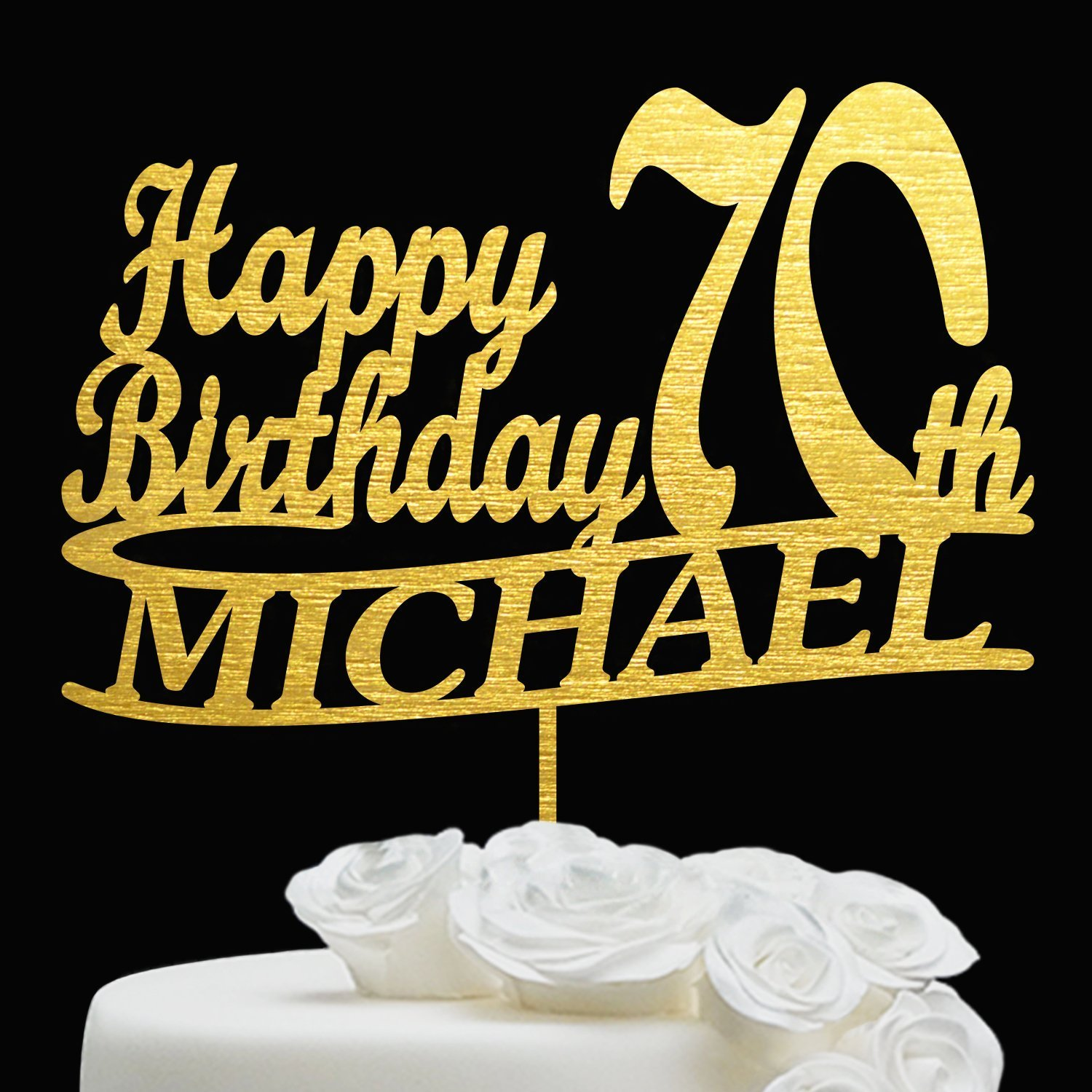 70 BIRTHDAY CAKE TOPPER Personalized Custom Topper