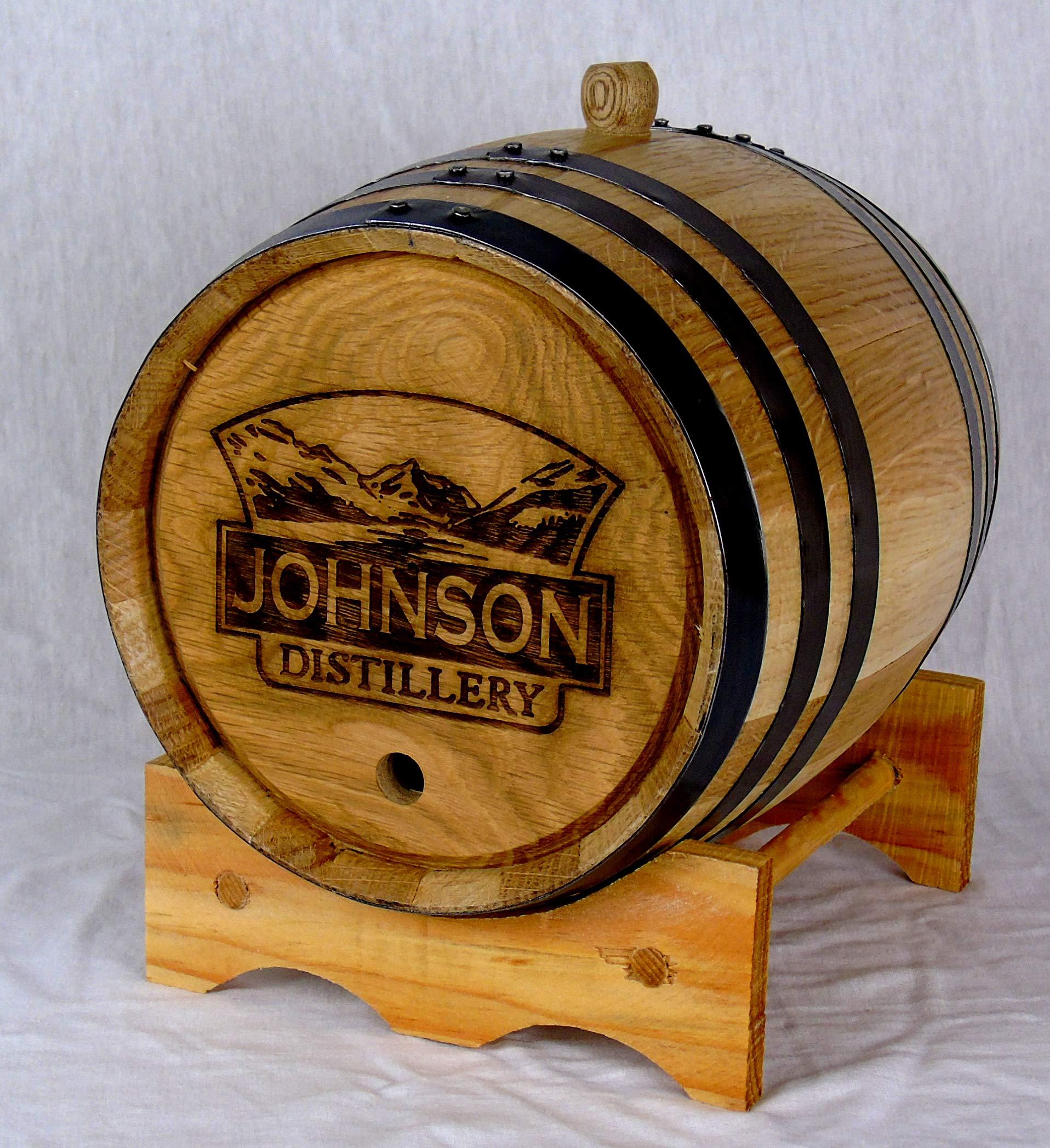 Personalized Engraved White American Oak Aging Barrels RHB141 (2 Liter)