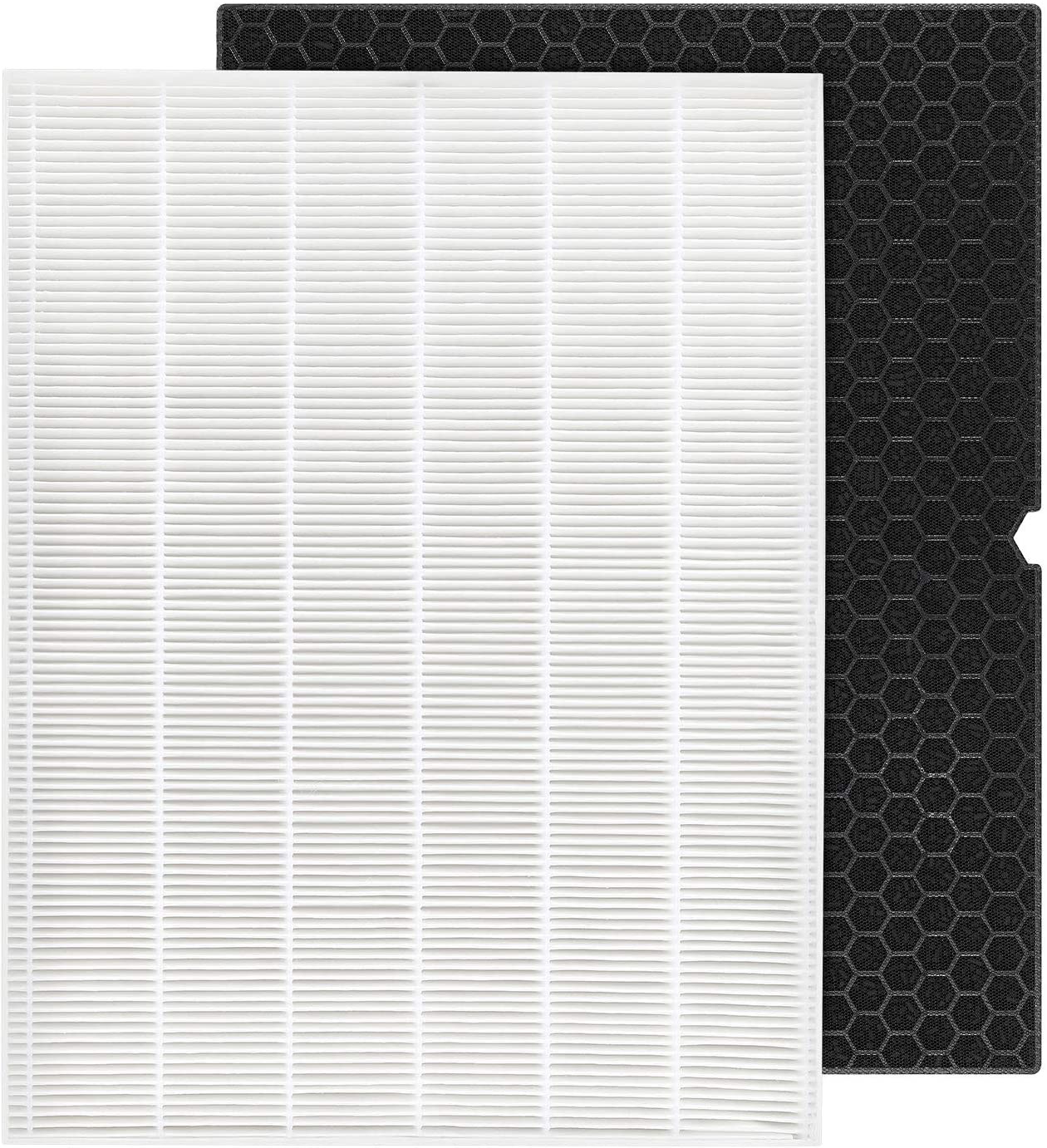 isinlive HEPA Replacement Filter H 116130 for Winix 5500-2 Air Purifier - HEPA Filter and Activated Carbon Filter Combo Pack
