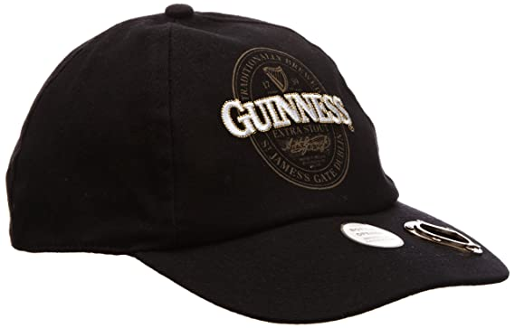 250e6991b88 Guinness Official Merchandise Extra Stout Label Bottle Opener Cap Men s Hat  Black One Size  Amazon.co.uk  Clothing