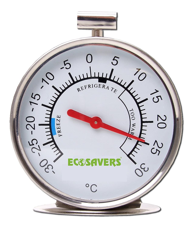 Ecosavers nevera congelador Termómetro de acero inoxidable: Amazon ...