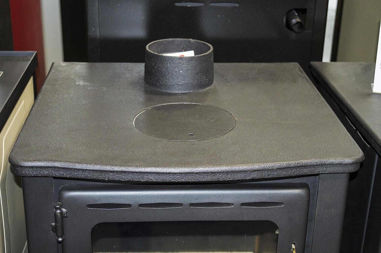 Estufa de leña caldera Multi combustible chimenea hierro fundido Top Prity K22 cpw10: Amazon.es: Bricolaje y herramientas