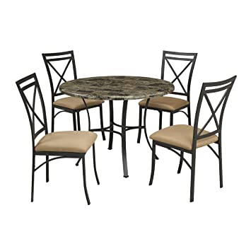 Amazon - Dorel Living Faux Marble Top Dining Table Set - Table