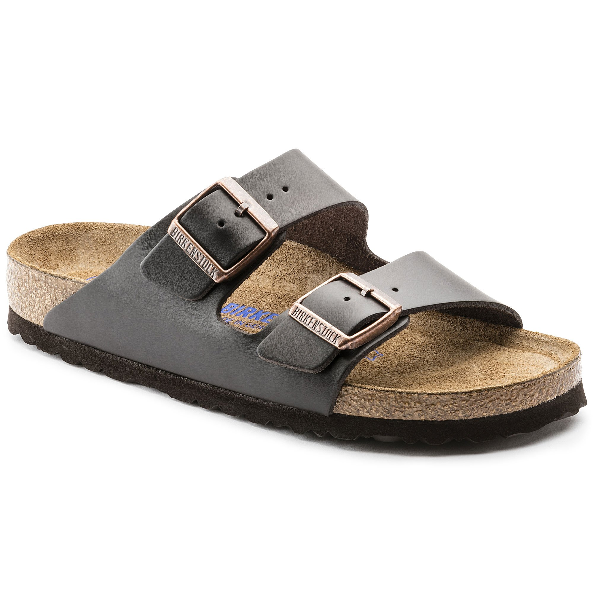Birkenstock Men's Style Arizona Sandals, Shiny Brown